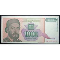 Yugoslavia - 1000 Dinara 1994