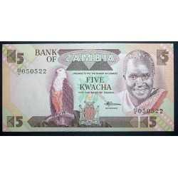 Zambia - 5 Kwacha 1988