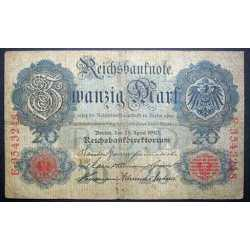 Germany - 20 Mark 1910