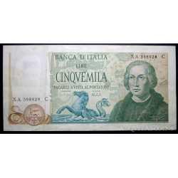 5000 Lire Colombo 1973 Serie X