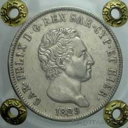 Carlo Felice - 5 Lire 1829 Ge