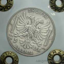 Albania - 5 Lek 1939