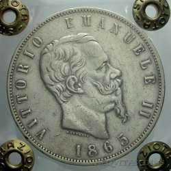 Vitt. Eman. II - 5 Lire 1865 N