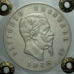 Vitt. Eman. II - 5 Lire 1878 R