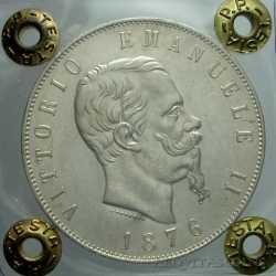 Vitt. Eman. II - 5 Lire 1876 R a SX