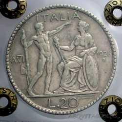 Vitt. Eman. III - 20 Lire 1928 Litt