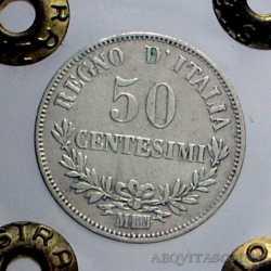Vitt. Eman. II - 50 Cent 1863 M Val