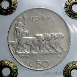 Vitt. Eman. III - 50 Cent Leo. 1919 L