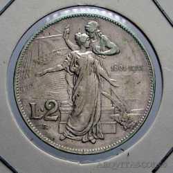Vitt. Eman. III - 2 Lire  1911 Cinq.