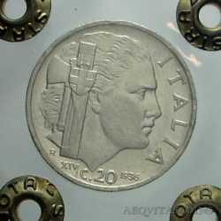 Vitt. Eman. III - 20 Cent  1936 RR