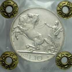 Vitt. Eman. III - 10 Lire 1929 Biga 2Ros