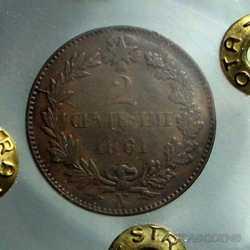 Vitt. Eman. II - 2 Cent 1861 N R.