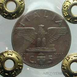 Vitt. Eman. III - 5 Cent 1936 NC