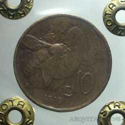 Vitt. Eman. III - 10 Cent 1919 R