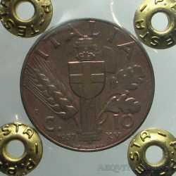 Vitt. Eman. III - 10 Cent 1937