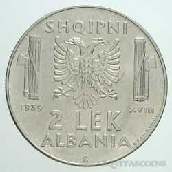 Albania - 2 LEK 1939 Antimagn.