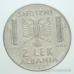Albania - 2 LEK 1939 Antimagn
