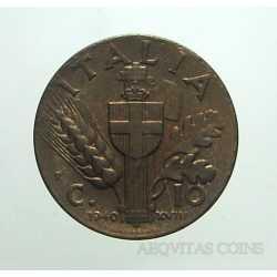 Vitt. Eman. III - 10 Cent 1940