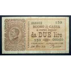 2 Lire Regno 1922