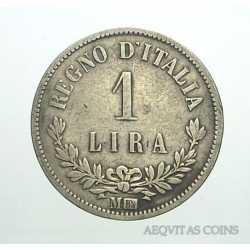 Vitt. Eman. II - 1 Lira 1863 M Val