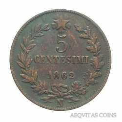 Vitt. Eman. II - 5 Cent 1862 N