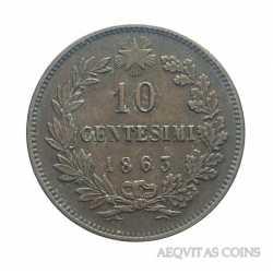 Vitt. Eman. II - 10 Cent 1863 Parigi