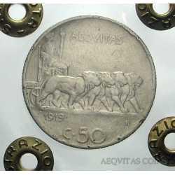Vitt. Eman. III - 50 Cent 1919