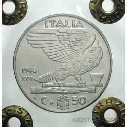 Vitt. Eman. III - 50 Cent 1940 AC