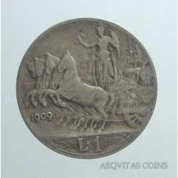 Vitt. Eman. III - 1 Lira 1909 NC
