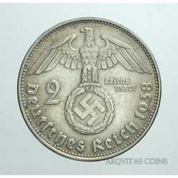 Germany - 2 ReichsMark 1938 B