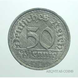 Germany -  50 Pfennig 1921 F