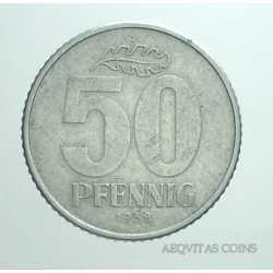 Germany -  50 Pfennig 1958 A