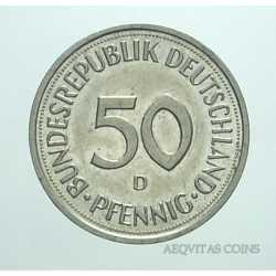 Germany -  50 Pfennig 1992 D