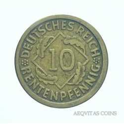 Germany -  10 Reichspfennig 1924 J