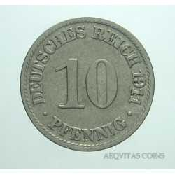 Germany -  10 Pfennig 1911 A