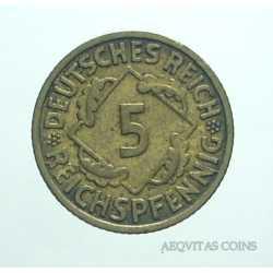 Germany -  5 Reichspfennig 1935 A