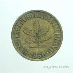 Germany -  5 Pfennig 1950 J