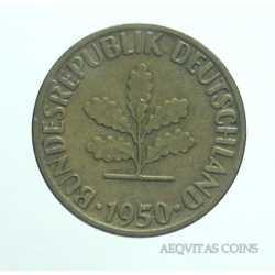 Germany -  5 Pfennig 1950 G