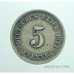 Germany -  5 Pfennig 1914 A