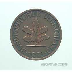 Germany -  1 Pfennig 1978 D