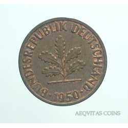 Germany -  1 Pfennig 1950 J