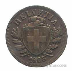 Switzerland - 2 Rappen 1908
