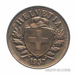 Switzerland - 2 Rappen 1937