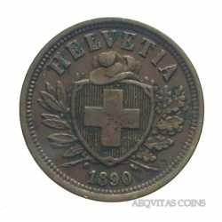 Switzerland - 2 Rappen 1890