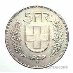 Switzerland - 5 Francs 1937