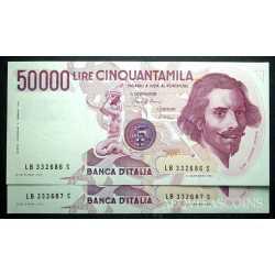 50.000 Lire Bernini 1985