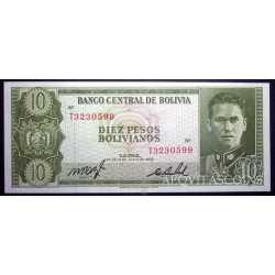 Bolivia - 10 Pesos 1962