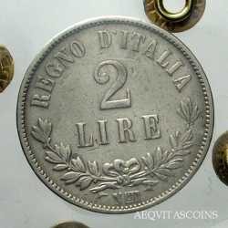 Vitt. Em. II - 2 Lire 1863 N Valore