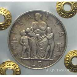 Vitt. Eman. III - 5 Lire 1937