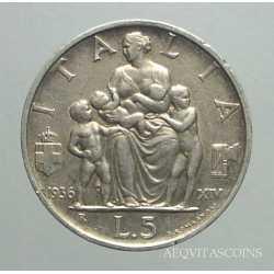 Vitt. Eman. III - 5 Lire 1936